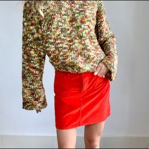 Gap Red Corduroy Mini Skirt size 4 / 27